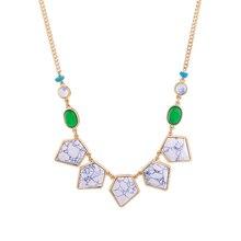 ORP fashion jewelry wholesale high quality jewelry retro style broken grain gem geometric irregular pendant ladies necklace high accuracy orp