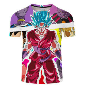 3d T-Shirt Anime Men Super-Saiyan Tops Hip-Hop Asian-Size Goku S-6xl New Brand