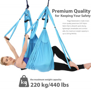 Image 5 - Anti gravity Aerial Yoga Hammock Set Multifunction Yoga Belt Flying Yoga Inversion Tool for Pilates Body Shaping with Carry Bag