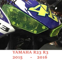 MTKRACING For YAMAHA Motorbikes parts ABS Headlight Protector Cover Screen Lens For YAMAHA R25 R3 2015 2016