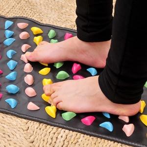 Image 5 - Reflexology Stone Foot Acupressure Massage Mat Pain Relief Feet Walk Massager Walk Stone Foot Massage Mat Pad Foot Spa Massager