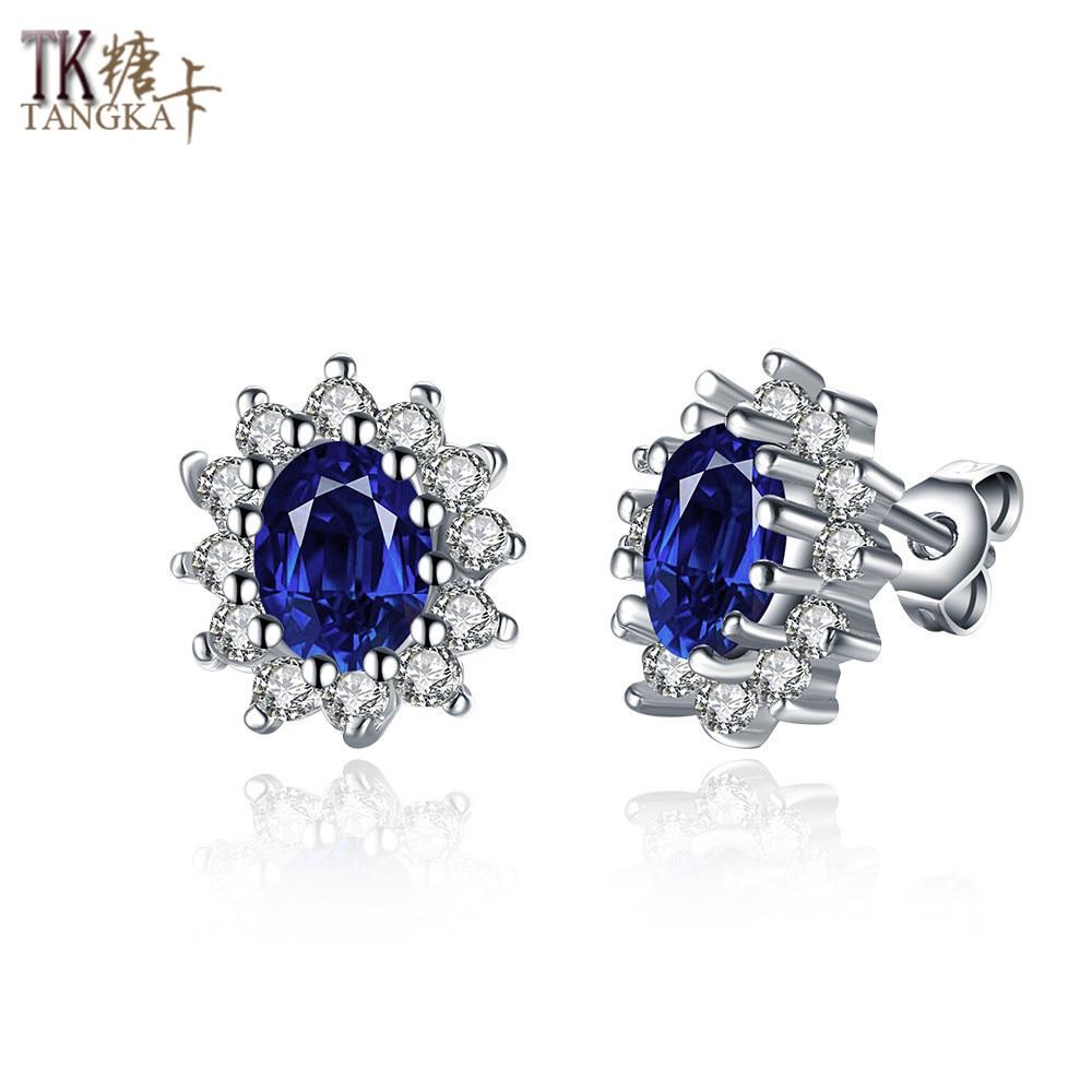 Tangka Top New Earrings With Stone For Women Fashion Female Pearl Earrings  Costume Jewelry Stud Earrings