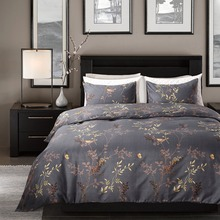 Hot Sell Reactive Scenic Tree Birds Printed Polyester Duvet Cover Set US Twin Queen King Size Pillowcase Bedding