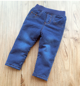 Image 3 - Baby Boys Clothing 2018 High Quality Thicken Winter Warm Cashmere Jeans Children Pants Boys Wild Little Feet Pants Jeans 1 6T