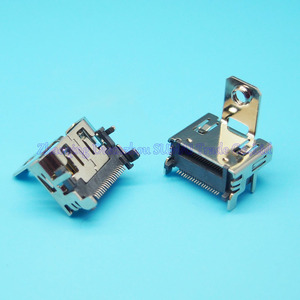 Prise femelle 19P SMT HDMI avec vis de fixation, 50 pièces/lot, livraison gratuite