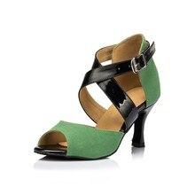 HXYOO Women Dance Shoes for Latin Ballroom Salsa GM036