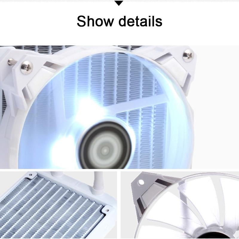 120 CPU Liquid Cooler Cooling Radiator Fan Heatsink For Intel LGA2011 115x 775 AMD QJY99 red line для apple iphone 6 6s plus black