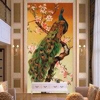 5d DIY Diamond Embroidery Aniaml Cross Stitch Full Square Rhinestone Diamond Mosaic Painting Peacock Flowers Home