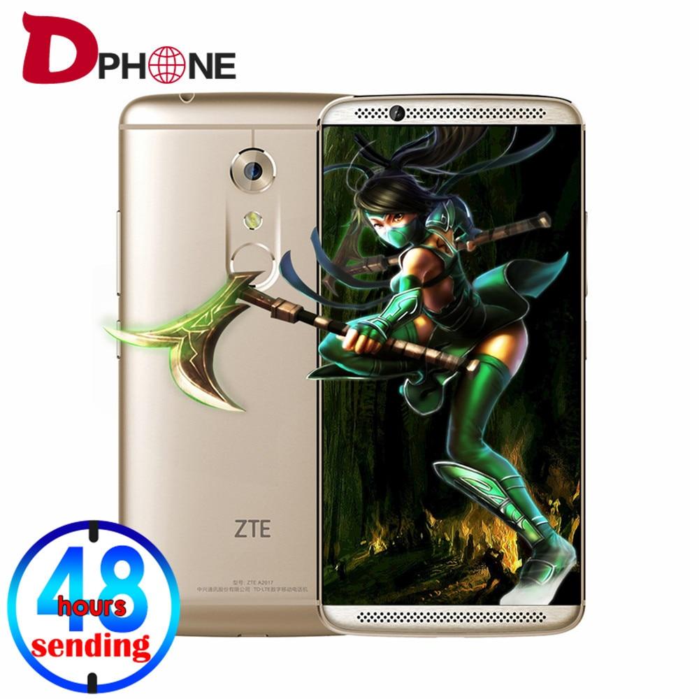 """Цена за Бесплатный случай оригинал ZTE Axon 7 A2017 5.5 """"Snapdragon 820 Android 6.0 4 Г TD LTE смартфон 4 ГБ RAM 128 ГБ ROM 20MP отпечатков пальцев NFC"""