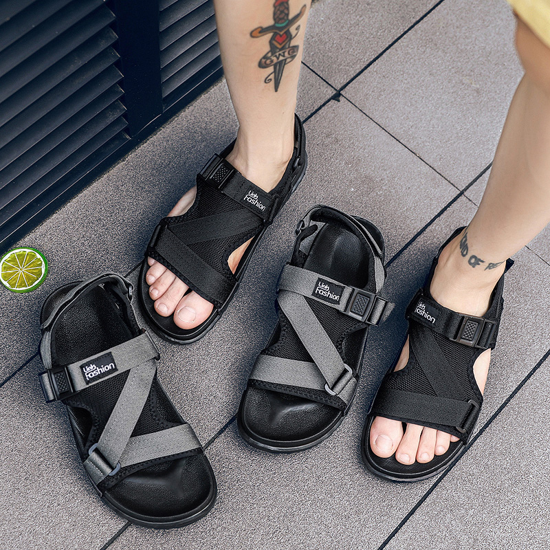 Fashion Man Beach Sandals 2018 Summer Gladiator Men's Outdoor Shoes Roman Men Casual Shoe Flip Flops Large Size 46 slippers Flat(China)