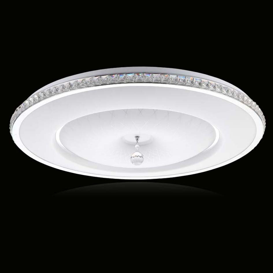 ФОТО Ecolight 18W Led Flush Mount Modern Acrylic Ceiling Light for  Dining Room Bedroom Metal Paiting with K9 Crystal