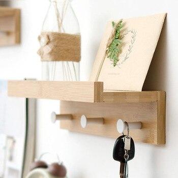 Actionclub креативные настенные стеллажи для хранения с крючками DIY деревянная полка для хранения на стене домашний декор полки для хранения мел...