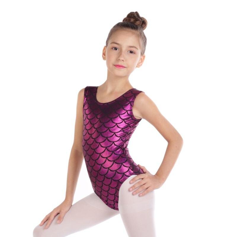 Gymnastics clothing explosion models sleeveless radium body suit ballet dance practice clothes girls Бюстгальтер