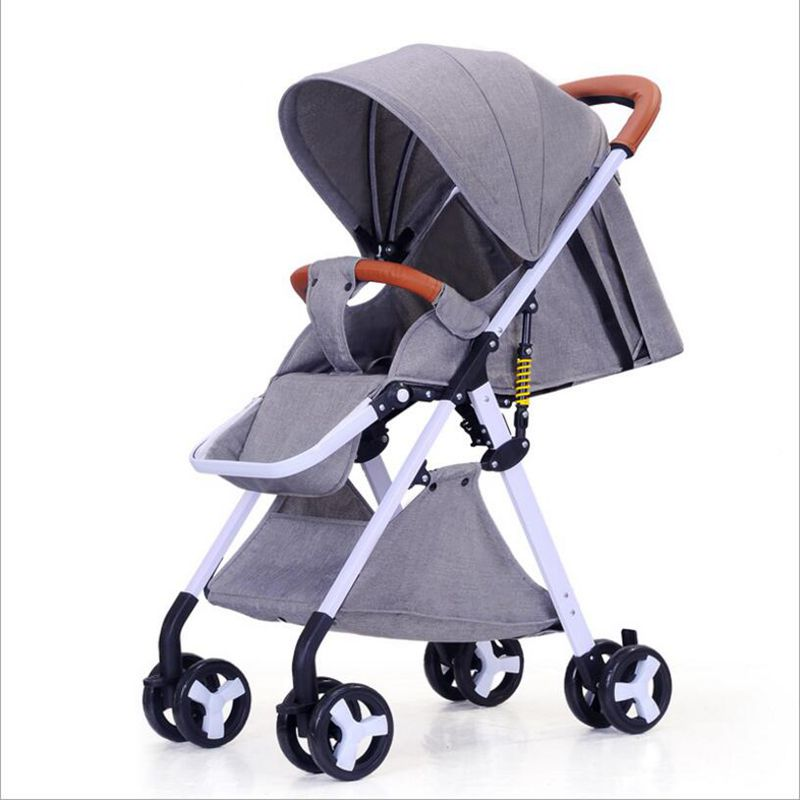 2018 high landscape can sit and lie lightly folded children's four-wheeled baby stroller 0-3 years old can be used цена