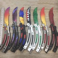 Butterfly In Knife CS GO Karambit Knife Practice Folding Knife Butterfly Trainer Game Knife Dull Blade