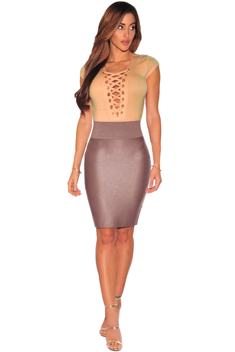 Apricot-Lace-Up-Cap-Sleeves-Bodysuit-LC32048-18-1