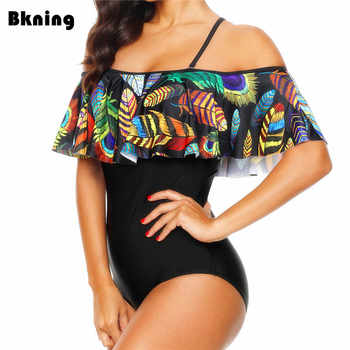 Ruffle Swimsuit 1 Piece One Women Large 2019 XXL Monokini Plus Size Trikini Print African Swimwear Strappy Pad Maillot De Bain - DISCOUNT ITEM  32% OFF All Category