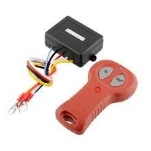 Drahtloser Elektrowinde 12 V 50ft Fernbedienung System Schalter Für Fahrzeug Auto Lkw ATV SUV Schwarz + Rot Auto zubehör