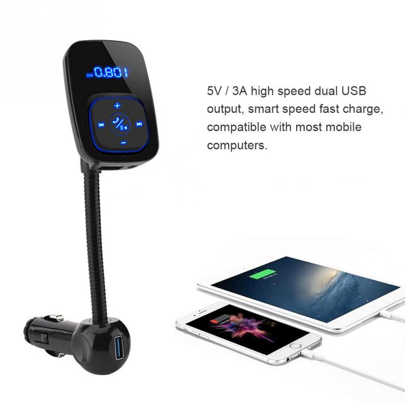 Car Bluetooth FM Transmitter Wireless Audio Adapter Car Dual USB Transmitter MP3 CVC Bluetooth 3.0 Stereo Adapter