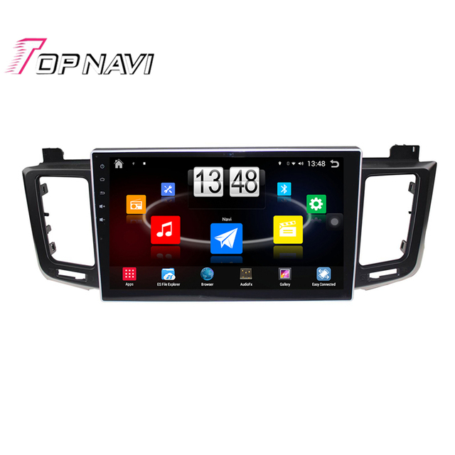 Top 10.1'' Quad Core Android 4.4 Car PC Stereo GPS For TOYOTA RAV4 2013 With Multimedia Audio Map Without DVD Free Shipping