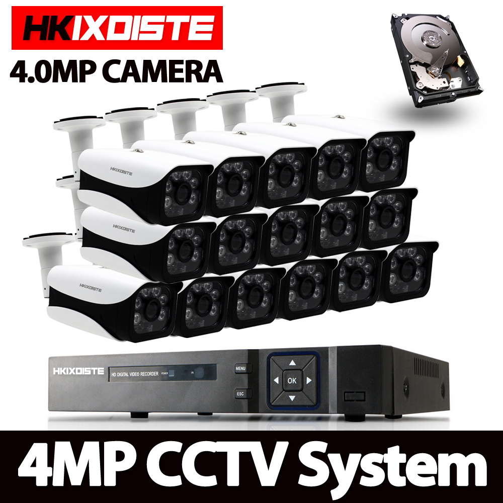 16CH 4MP Full HD CCTV System 1080P HDMI DVR 16PCS bullet  Outdoor indoor Home Video Security Cameras Surveillance System 4TB HDD16CH 4MP Full HD CCTV System 1080P HDMI DVR 16PCS bullet  Outdoor indoor Home Video Security Cameras Surveillance System 4TB HDD