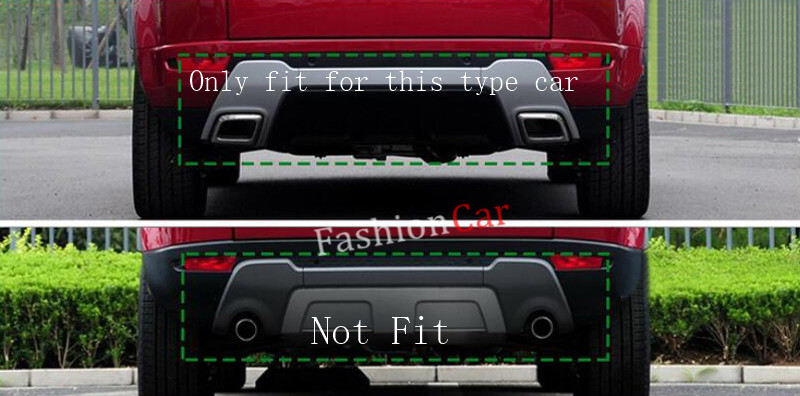 For Land Rover Range Rover Evoque 2011-2015 ABS Rear bumper cover trim 1pcs car styling newest for land rover range rover evoque abs center console gear panel chrome decorative cover trim car styling 2012 2017