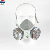 Kualitas tinggi respirator masker gas MENYEDIAKAN Silika gel pelindung abu-abu masker cat pestisida industri keselamatan masker