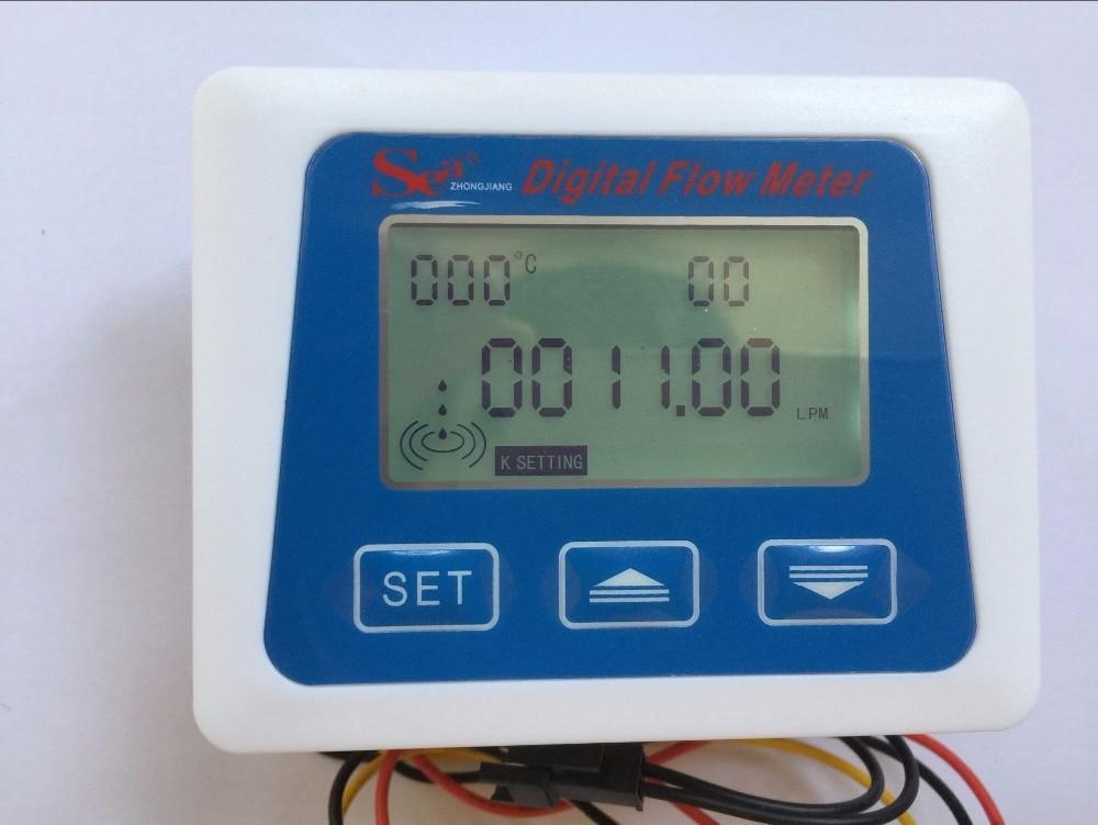 M Arrival LCD  Liter New Total From LCD Model Display Digital Meter Flow Measuring Senosr Temperature New  Gal ZJ
