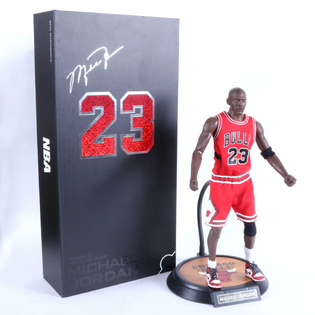 a925ab7ecfdc80 NBA Real Masterpiece Michael Jordan 23 Red Jersey 1 6 Action Figure New  Anime Figure Collectible Model Toy