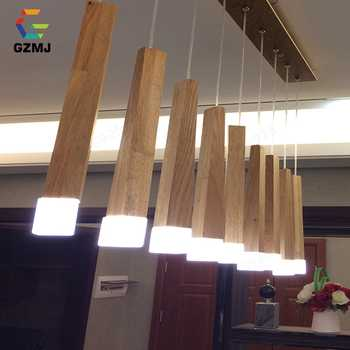 GZMJ Country Style Wood Pendant Lights LED Loft Decor Hanging Lamp for Foyer Living Room Hotel Cafe Restaurant Modern Wood Lamp - DISCOUNT ITEM  35% OFF All Category