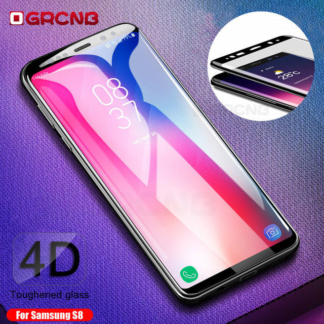 4D Curved Full Cover Tempered Glass For Samsung Galaxy S8 Plus Note...