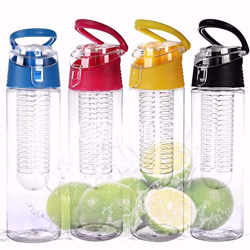 Hot 800ml Cycling Sport Fruit Infusing Infuser Water Lemon Juice Bicycle Health Eco-Friendly BPA Detox Bottle Flip Lid