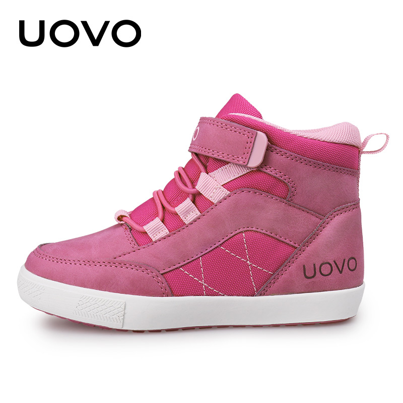 UOVO 2017 New Arrival Autumn Winter Walking Shoes Fashion Girls Casual Shoes Children Warm Comforable Sneaker Eur28#-37# new children s shoes in the spring of autumn boy girls running shoes casual shoes eur 31 37 yxx