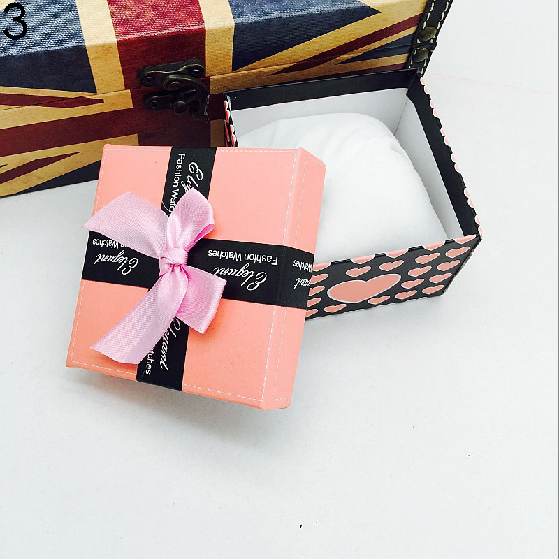 popular Bowknot Present Display Storage Gift Box Case for Watch Bracelet Bangle Jewelry