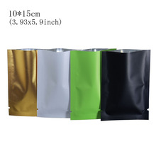 цена на 10*15cm 4 Colored Open Top Frosted Aluminum Foil Vacuum Pack Pouches Heat Seal Food Storage Package Packing Bags 100pcs/lot