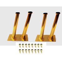 4PCS 30*20*200mm Golden Bronze Furniture Cabinet Cupboards Metal Legs Table feet Verified Lab Test Supports 1600 pounds