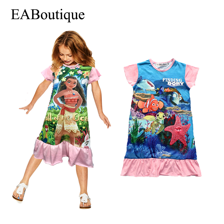 Eaboutique cotton fabric girls dress cartoon finding dory for Childrens dress fabric