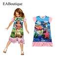 Tela de algodón niñas vestido de la historieta finding nemo dory eaboutique volantes estilo ropa de niños para 4-10 años de edad