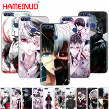 HAMEINUO Tokyo Ghoul font b anime b font Kaneki Ken cell phone Cover Case for huawei