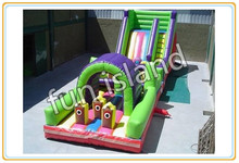 Big city residential inflatable bouncers with obstacle course