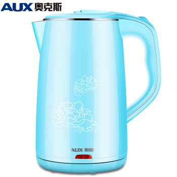 304 Stainless Steel Electric Kettle Double-layer Anti-hot Water Boiler 1.8L Fast-heating Teapot Safety Auto-off Function Blue electric kettle for electric heating vacuum insulated double layer anti hot 304 stainless steel