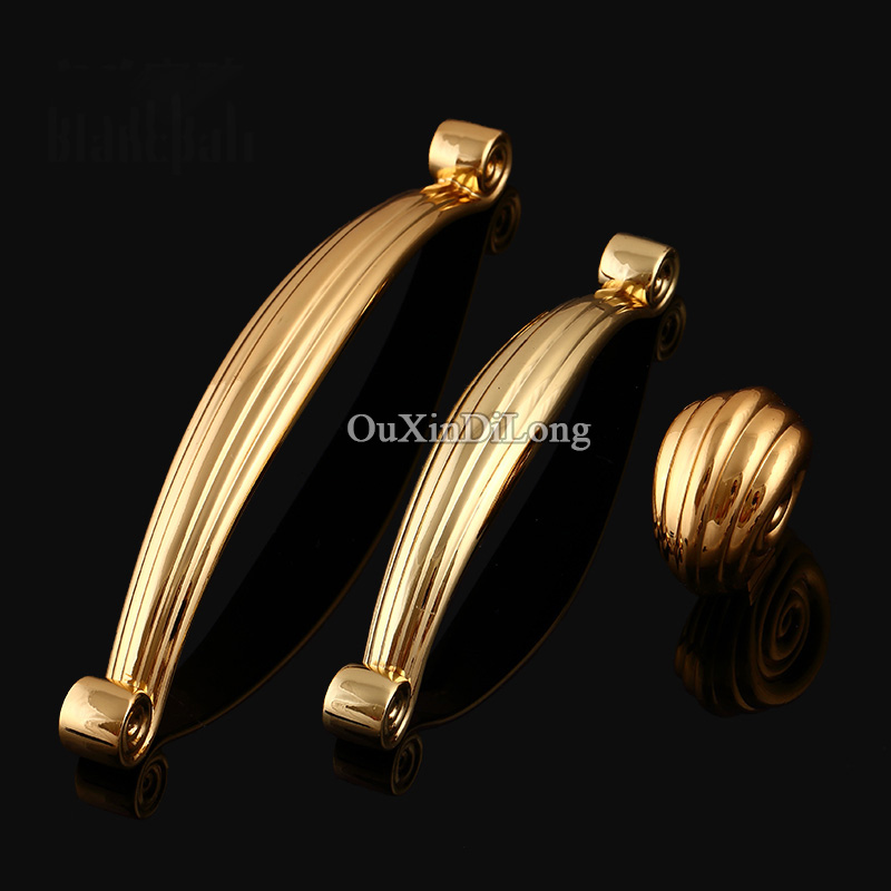 Top Quality 10PCS European Kitchen Door Furniture Handles Hardware Cupboard Wardrobe Drawer Wine Cabinet Pulls Handles and Knobs furniture drawer handles wardrobe door handle and knobs cabinet kitchen hardware pull gold silver long hole spacing c c 96 224mm