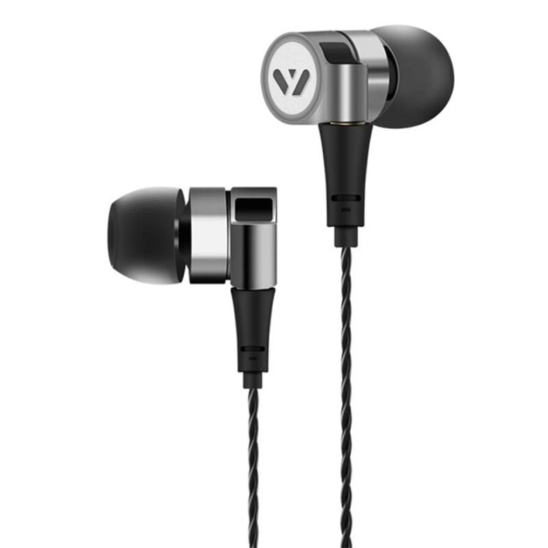 Yersen FEN-2000 MMCX Hybrid Earphone HIFI Stereo Bass Metal Headset Headphone DJ Earbuds Detachable Cable for Shure se215 se535