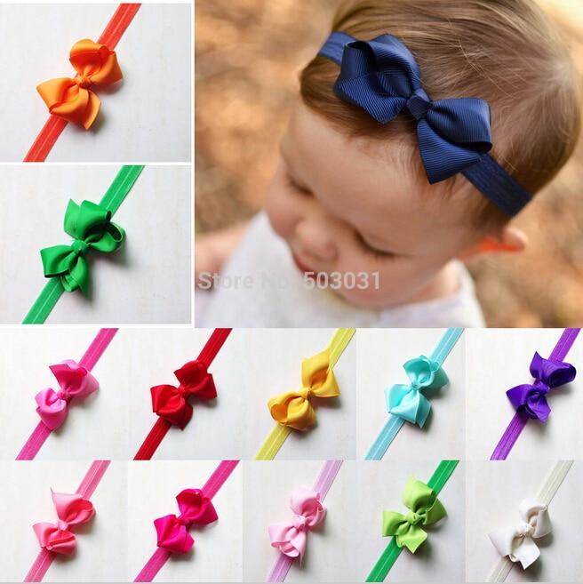Tie Bow Knot Headband Kids Small Bowknot Elastic Hair Accessories Fashion Style Headband EASOV W065