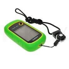 Прогулки Ручной GPS защитить зеленый силиконовой резины чехол + черный разъемное кольцо шейный ремень для Garmin Etrex 10 20 30 10X 20X 30x