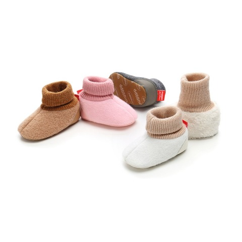 Toddler Shoes Newborn Knitted Flock Warm Pre-walker Shoes Baby Shoes New Winter Infant Soft Soled First Walkers 0-18M A Multan
