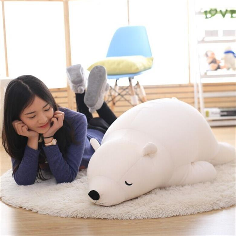 28CM 50CM Polar Bear Soft Stuffed Toy Nanoparticle Stuffed Doll Polar Bear Doll Cute Plush Toy Gift For Lovers Kids super cute plush toy dog doll as a christmas gift for children s home decoration 20