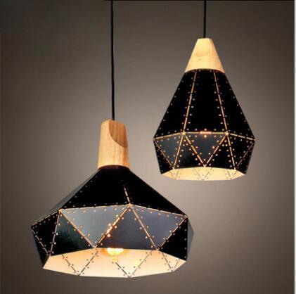 Vintage Shabby    indoor lighting  edison Pendant Lamp Industrial Retro Loft Iron Lighting LED E27