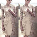 Haute Couture elegante mãe do vestido da noiva 2017 Plus Size 2 peças com a Mãe Jaqueta Do Vestido de Casamento Mae da noiva vestidos
