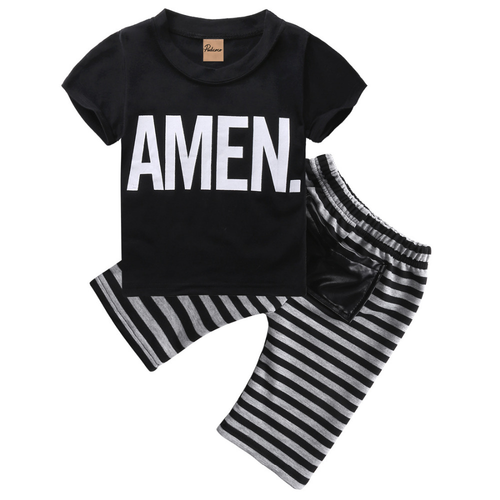 2pcs Children Toddler Kids Baby Boy T-shirt Tops + Short Pants Trousers Bottoms Fashion New 2016 Outfits Clothing Set Summer цена 2017